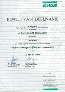 Certificaat Expert uitlijnen van Stefan
